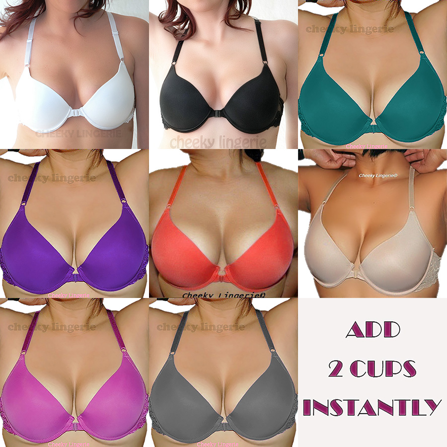 c246d5bc38bb0 32 34 36 38 B C D ADD 2 CUP Sizes Semaless RACERBACK Front CLOSE Push Up BRA