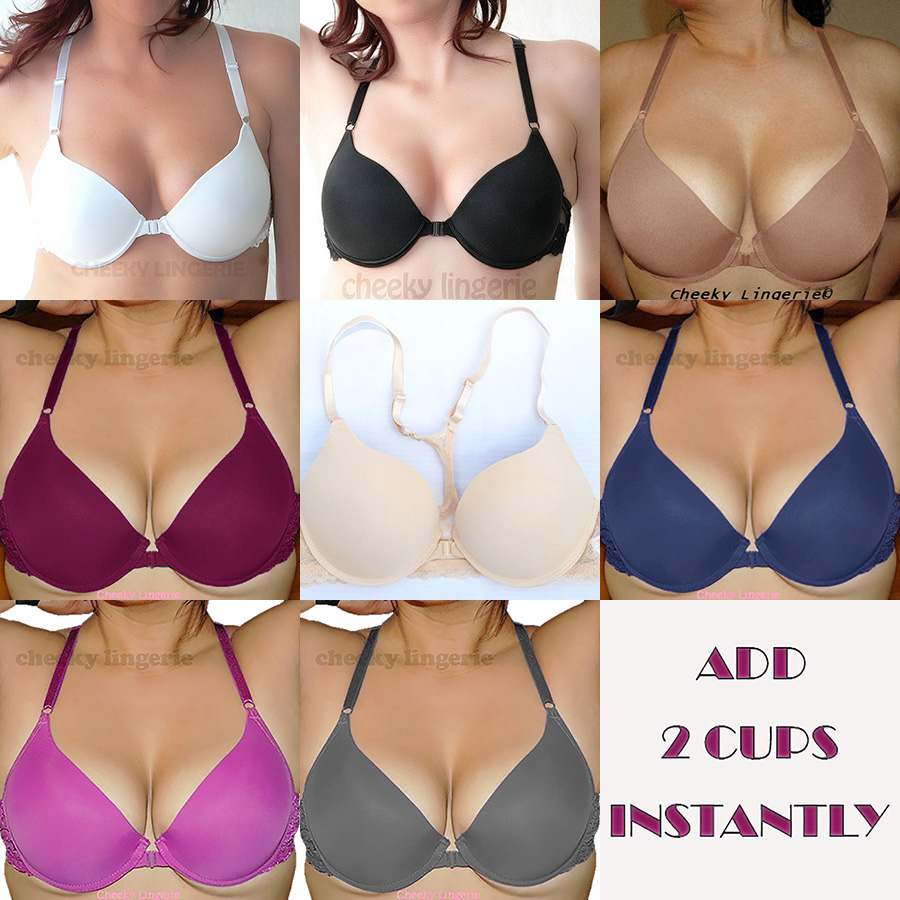 Pack of 2 Famous Make Underwired Lace Bras Black and White Sizes 32-36 B-DD.