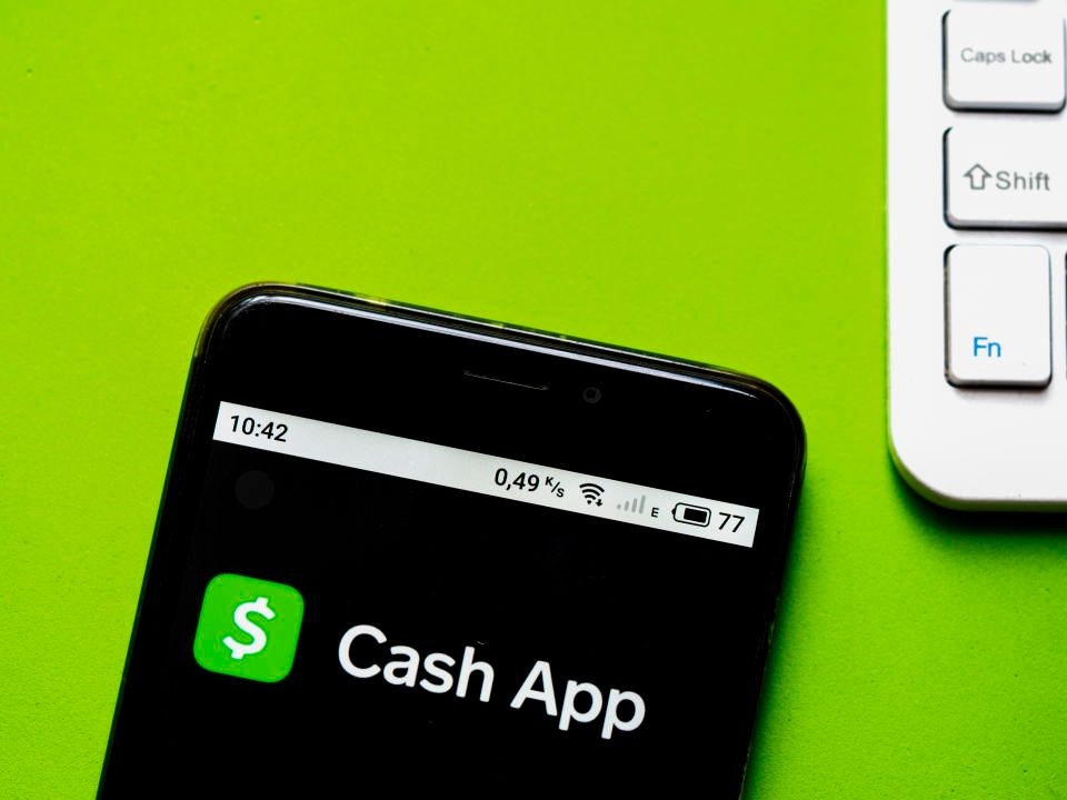 Android phone with cash app opened