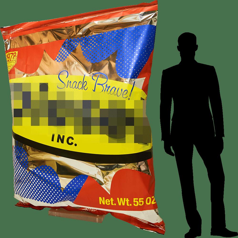 sacchetto di patatite altezza uomo da allestimento vetrina