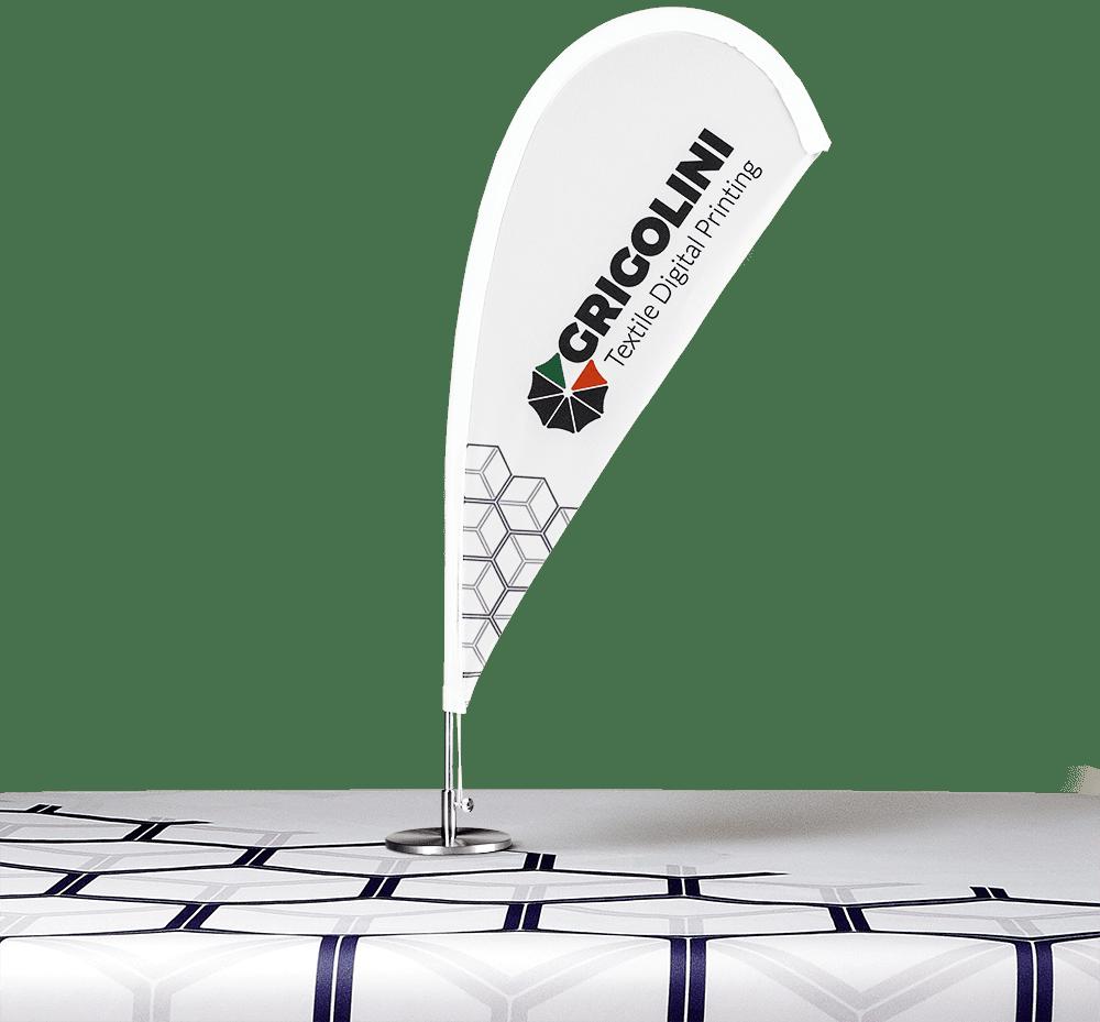 bandiera Flying da tavolo ideale per convegni e pubblicità