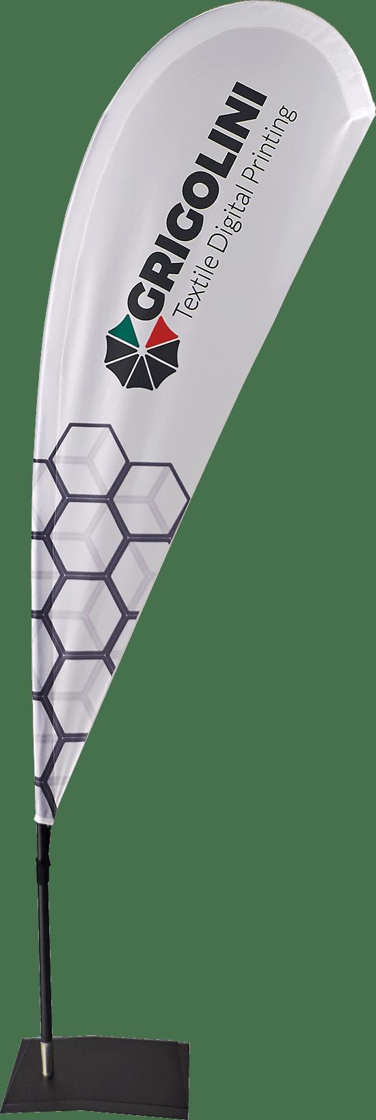 Bandiera modello Flying Goccia disponibile in varie misure