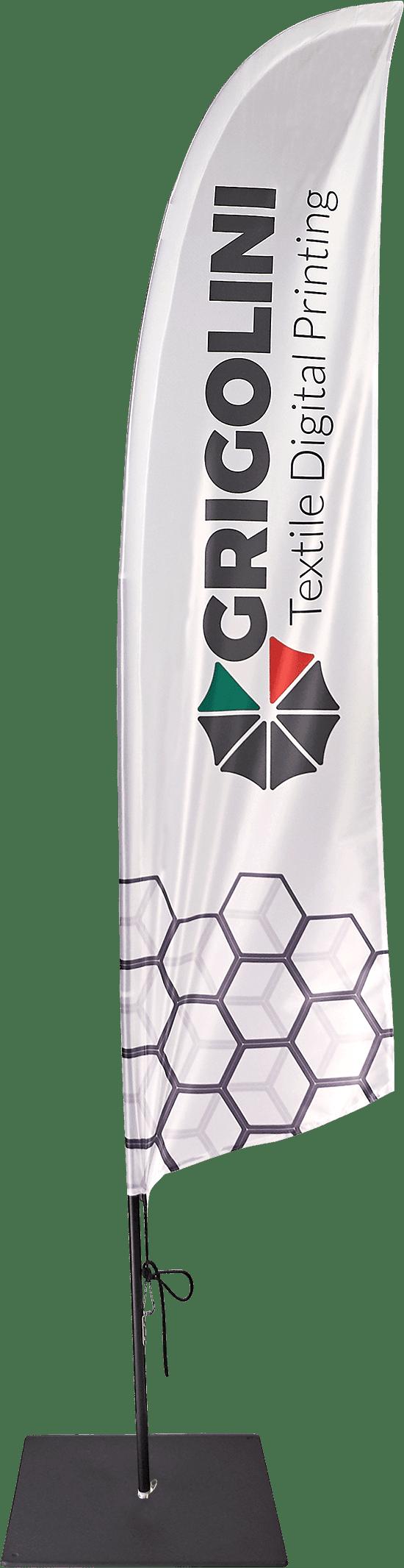 Bandiera modello Vela disponibile in varie misure