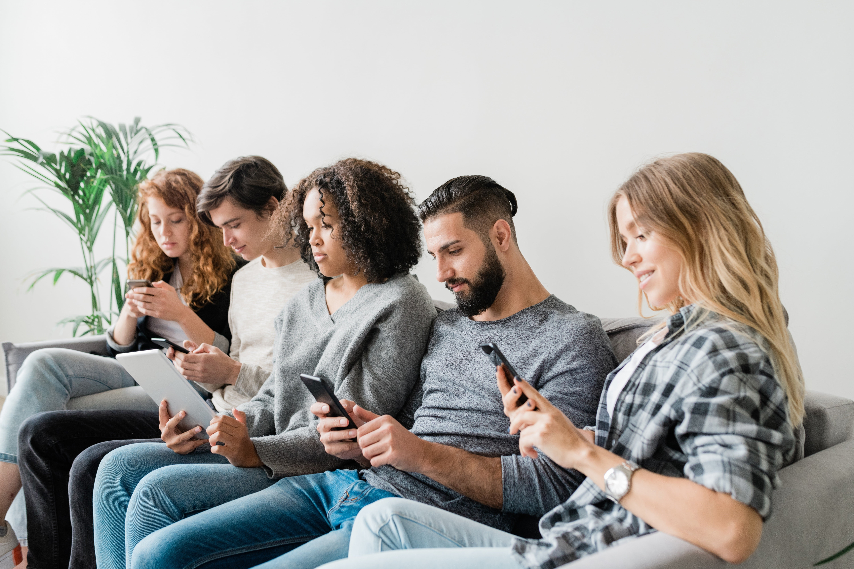 People Scrolling on their phone
