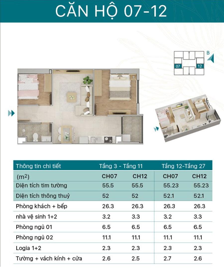 Thiết kế căn 7 và 12