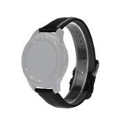 Curea neagra din piele pentru Samsung Gear S3 Classic / Frontier si Vector Luna / Meridian