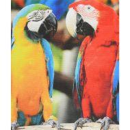 Laveta ochelari, imprimeu papagali