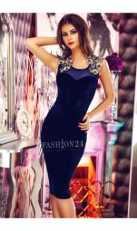 Rochie De Seara Blue Velvet