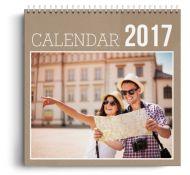 Calendar personalizat - Raster - Calendar de perete cu spirala metalica si agatatoare - Panoramic mare (42x29 cm)