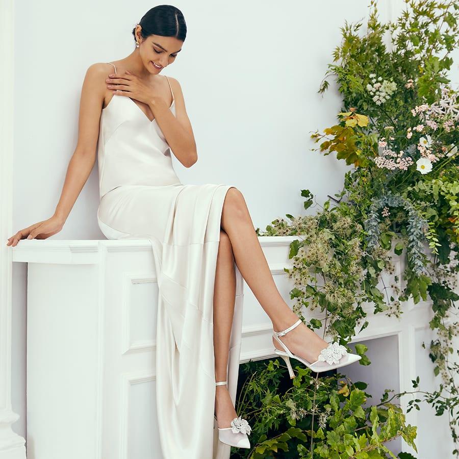 Bride wearing Casslyn heels