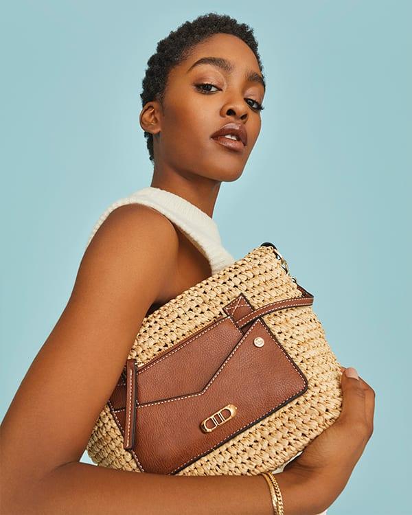 close up of women summer bag