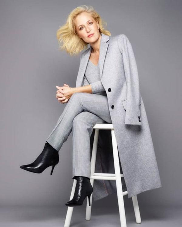 Gillian wearing black boots