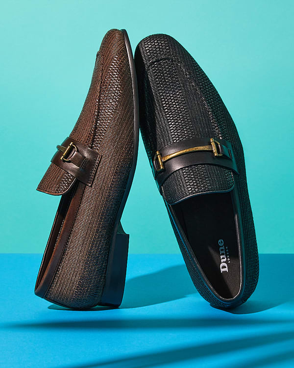 Close-up of the Sandcastle loafers with snaffle trims