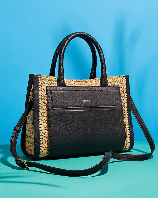 Straw and raffia bag named Doughtry