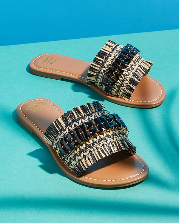Close-up of the Nilah sandals