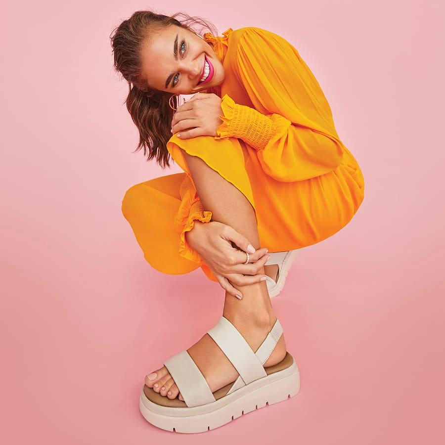 Shop women's flat sandal style Location