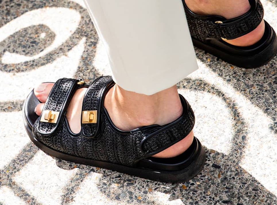 Picture of the Lockstock sandals in black