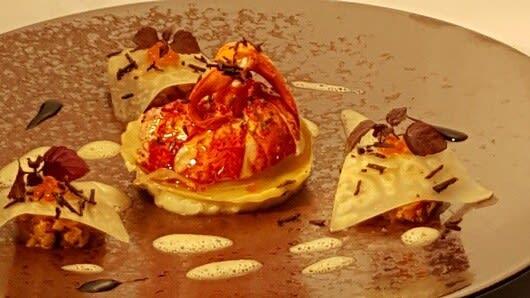 Lobster with foie gras and truffle - La Truffière