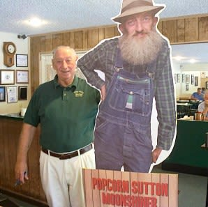 Moonshine legend Popcorn Sutton was a regular at James Carver's Maggie Valley Restaurant