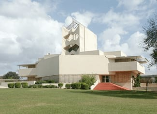 One of Frank Lloyd Wright's magnificent creations at Florida Southern College in Lakeland, Florida.
