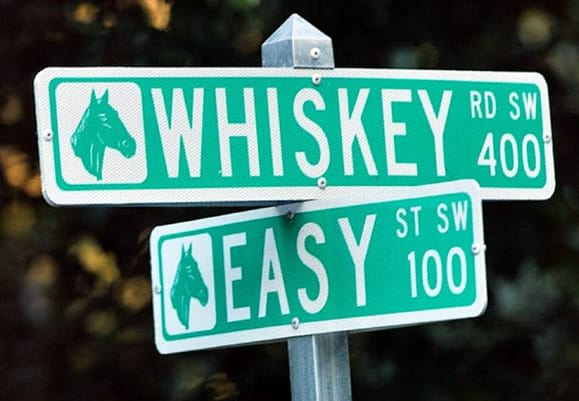 Aiken's street signs confirm an enviable lifestyle.