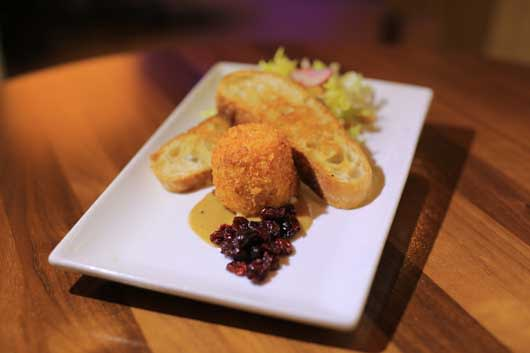 Warm Breaded Goat Cheese