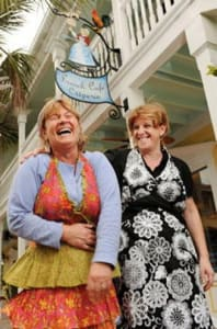 Yolanda and Sylvia guide the culinary operations at Key West's heralded La Creperie.