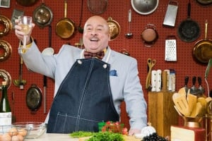 Actor William Murphy as the ebullient James Beard.  Credit: Theatrical Outfit