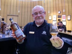 Bill Renner admires his pour of fine Bourbon at Heaven Hill