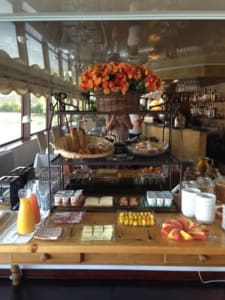 A typical breakfast buffet aboard Le Phenicien. Of course, fresh croissants daily!