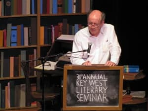 Former U.S.Poet Laureate Billy Collins was one of the featured speakers at the Key West Literary Seminar.