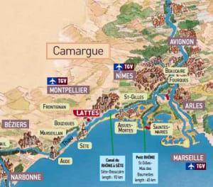 camargue-barge-map