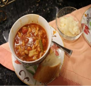 Purple Potato Cilantro Soup