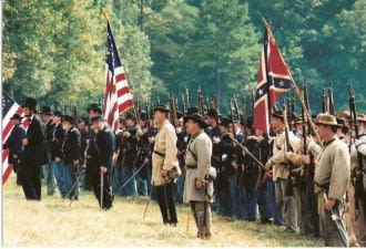 Soldiers of both armies conduct highly entertaining reenactments along battlefields leading to Atlanta