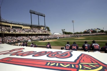 Spring games are in a relaxed environment. The Atlanta Braves are headquartered at Walt Disney World.