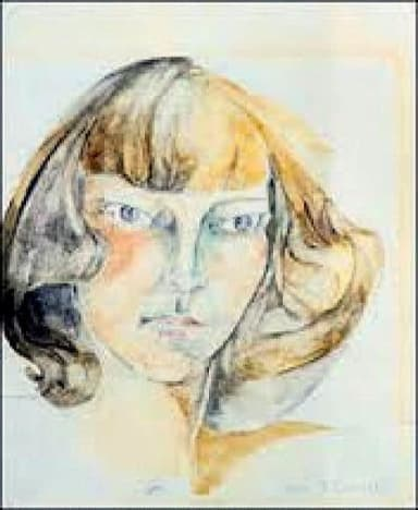 Self-portrait, Zelda Fitzgerald.