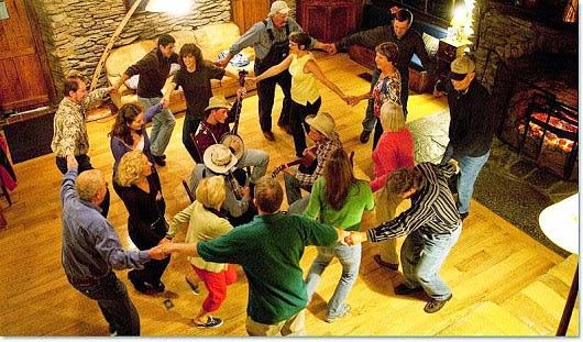 Bluegrass and fireside dancing at Cataloochee Ranch
