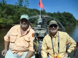 Westville mayor Stephen Herrington (left) with Jeep Sullivan