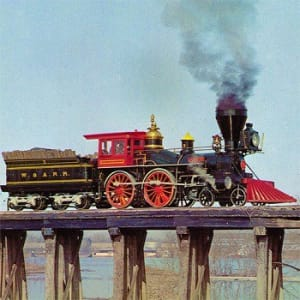 """The Disney movie, """"The Great Locomotive Chase,"""" starred actor/winemaker Fess Parker."""