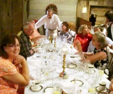 One table relaxes between courses