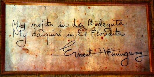 Hemingway signature Havana