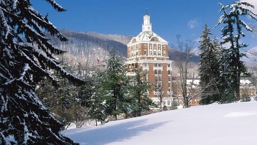The Homestead Resort in Winter