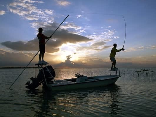 Boston Red Sox great Ted Williams fishing in the Florida Keys