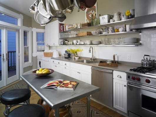 Nomadic Kitchen design - open shelving