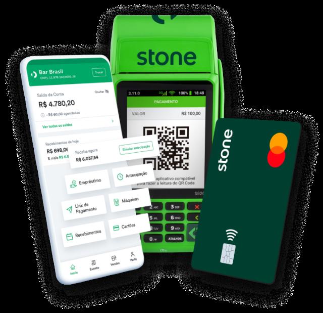 App, Maquininha e Conta Stone
