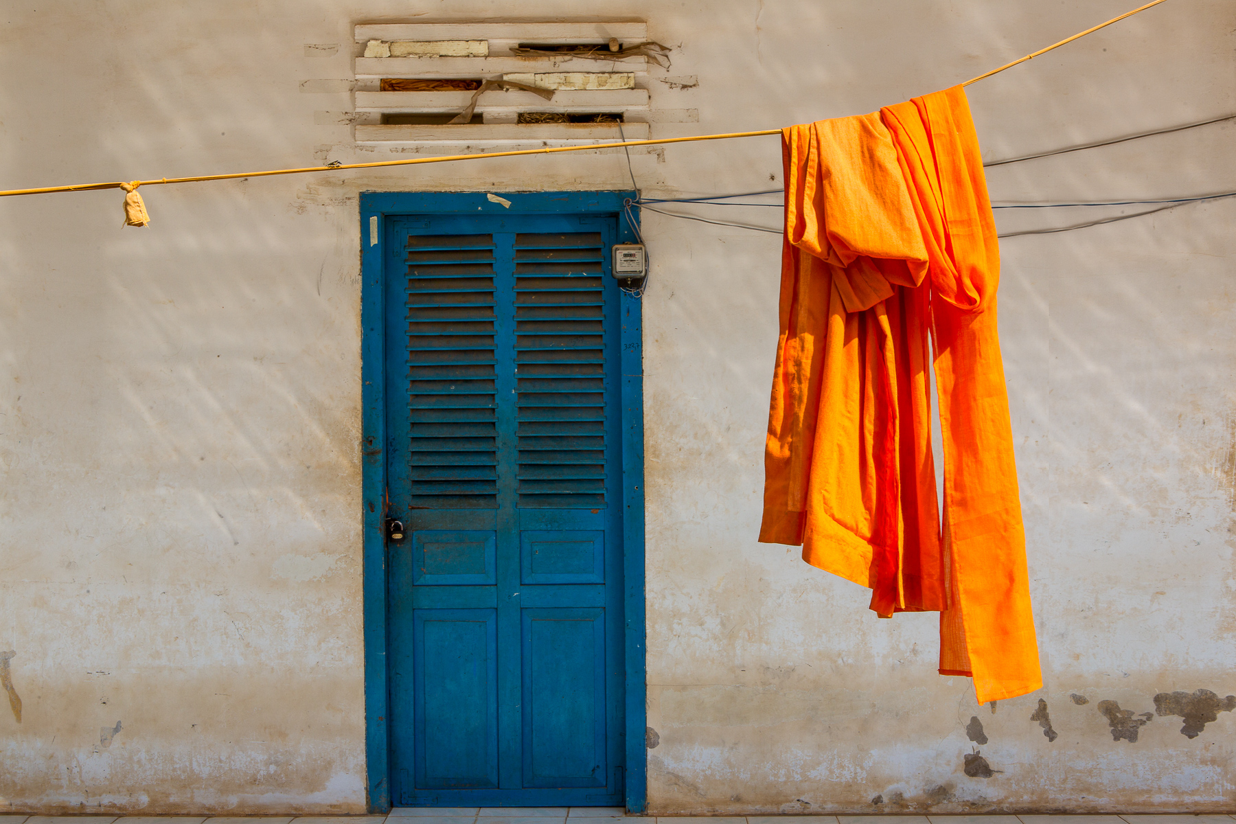 Monks Robes Drying outside a Monastery