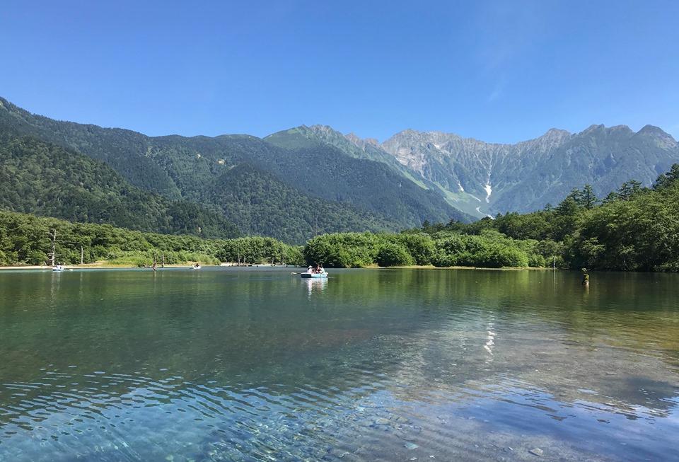 The beautiful view of Taisho Pond