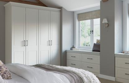 Premier Amsterdam bedroom in Pure White finish