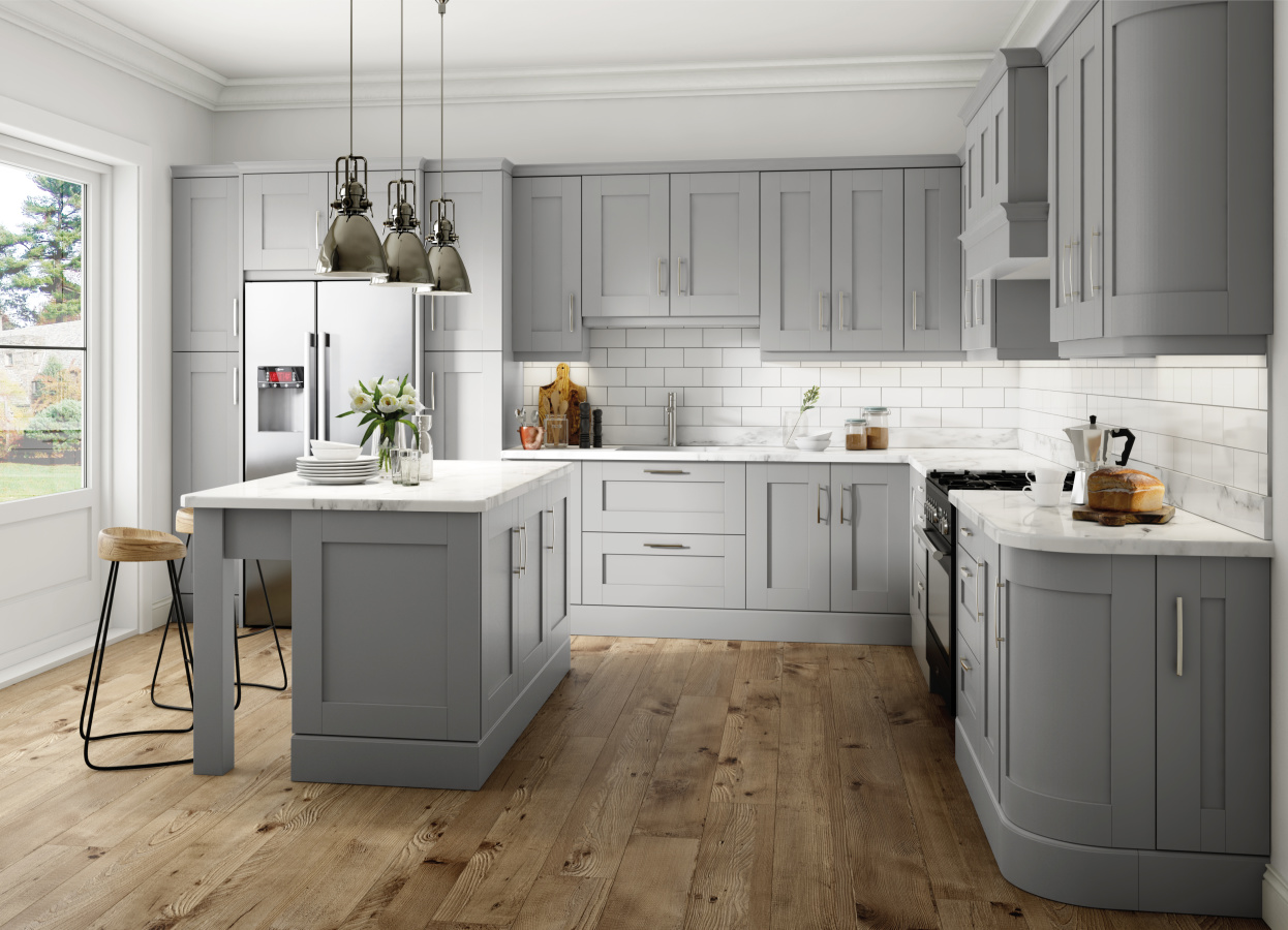 Shaker Cologne kitchen doors in Light Grey by HOMESTYLE