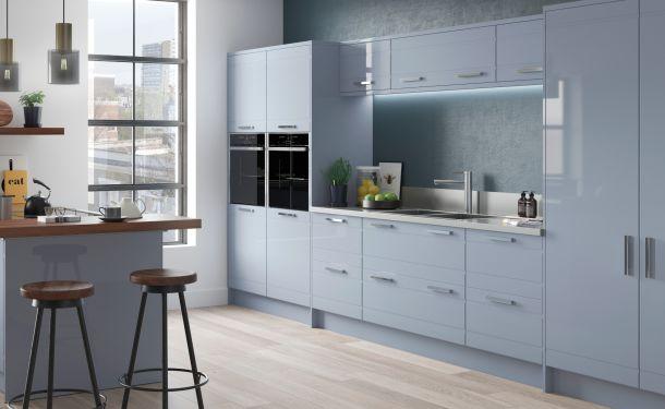 High Gloss Denim kitchen picture
